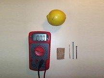Lemon Battery Project Supplies