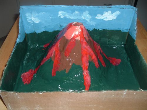 How To Make A Volcano With Paper-Mache